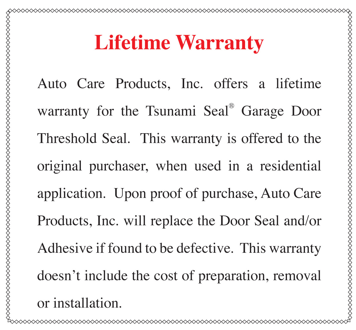 Auto Care Tsunami Seal Garage Door Threshold Seal Garage